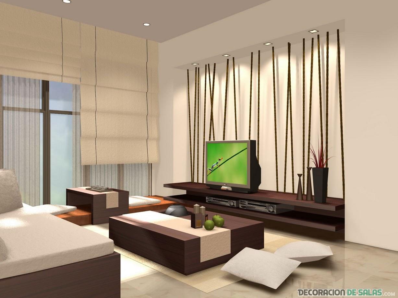 salón luminoso de estilo asiático