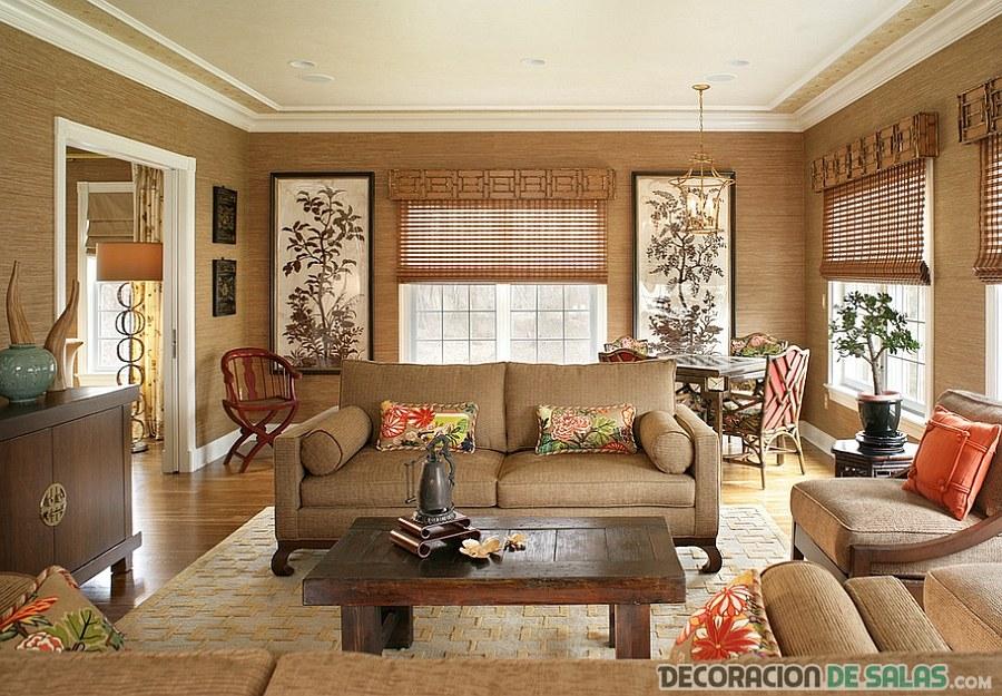 salón marrón beige