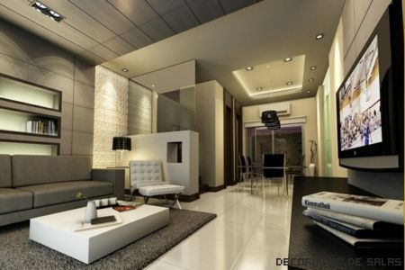 salon minimalista elegante