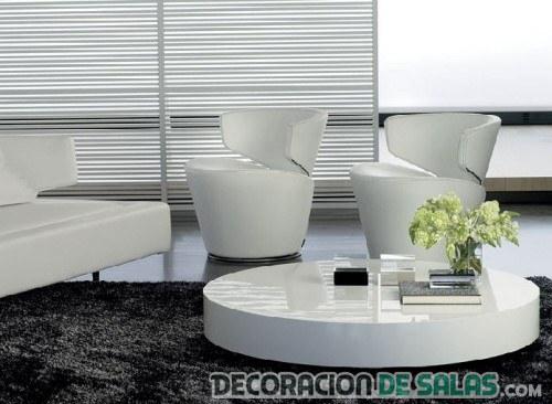 salón moderno con alfombra en negro
