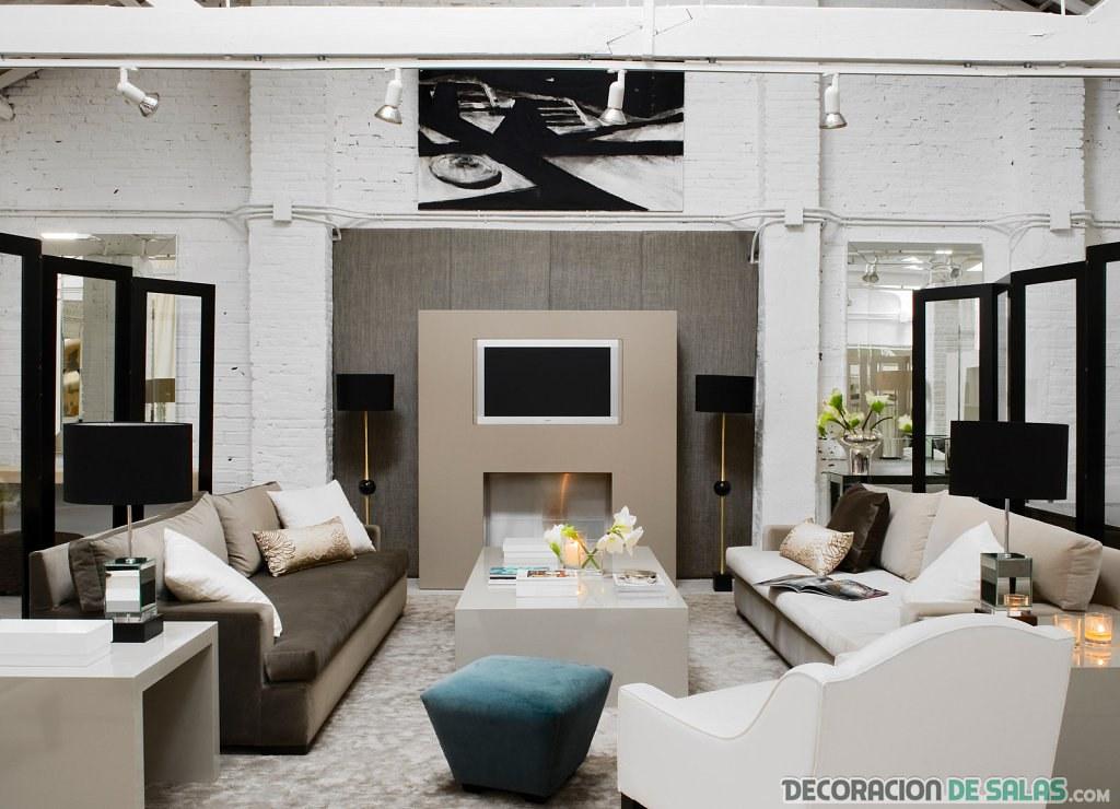 salón moderno con estilo feng shui