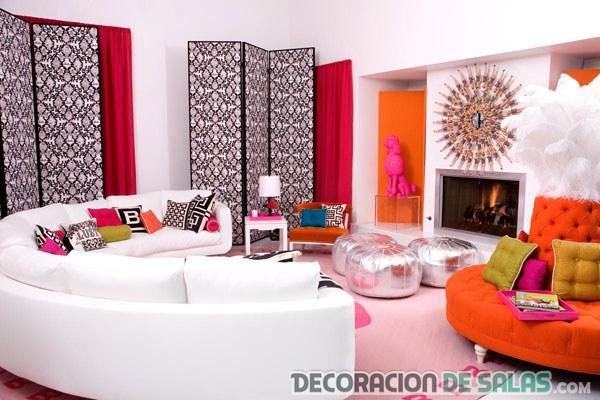 salón moderno y original a todo color