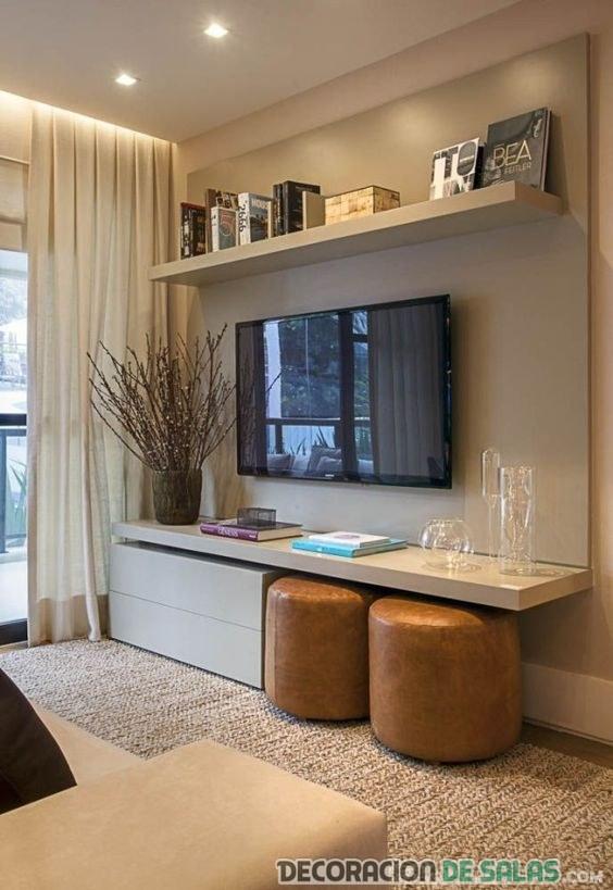 salón mueble pequeño decoración