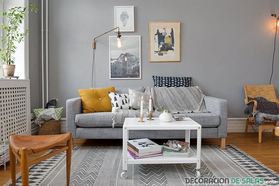 salón nórdico elegante y sencillo