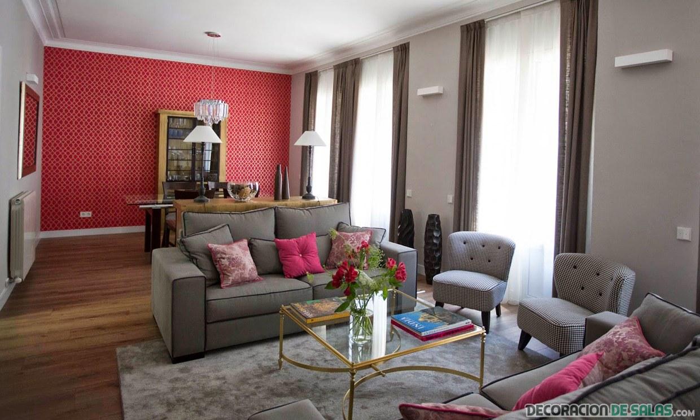 salón ordenado en color