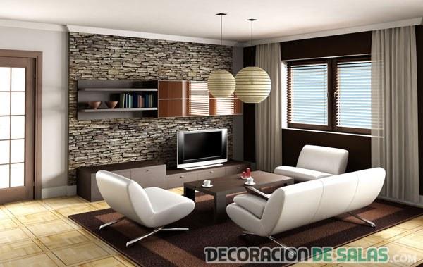 salón pequeño con decoración urbana