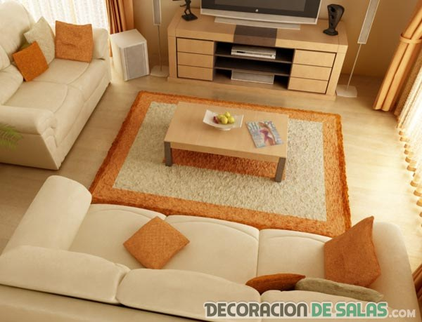 salón pequeño con sofás