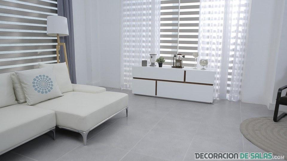 salón pequeño decoración minimalista