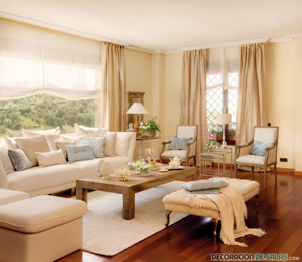 salón pequeño en beige