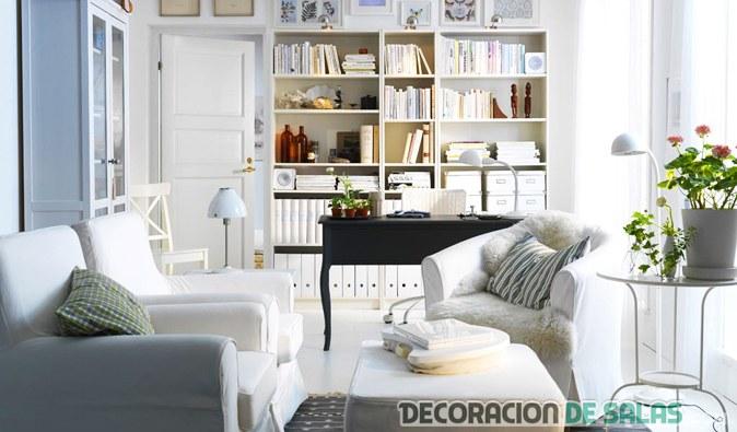 salón pequeño en color blanco