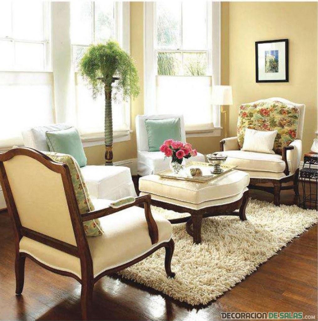 salón pequeño y clásico