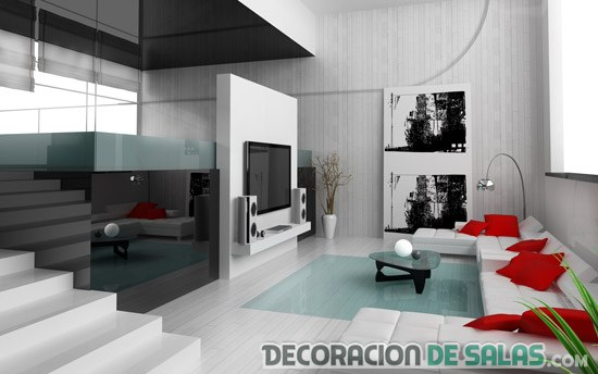 salón pequeño y elegante muy luminoso