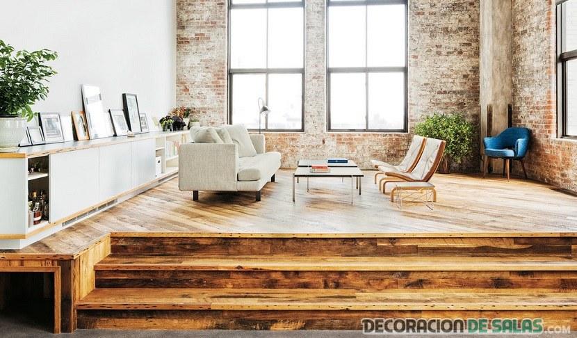 salón sencillo con mueble bajo