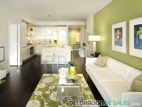 salón verde colores fríos