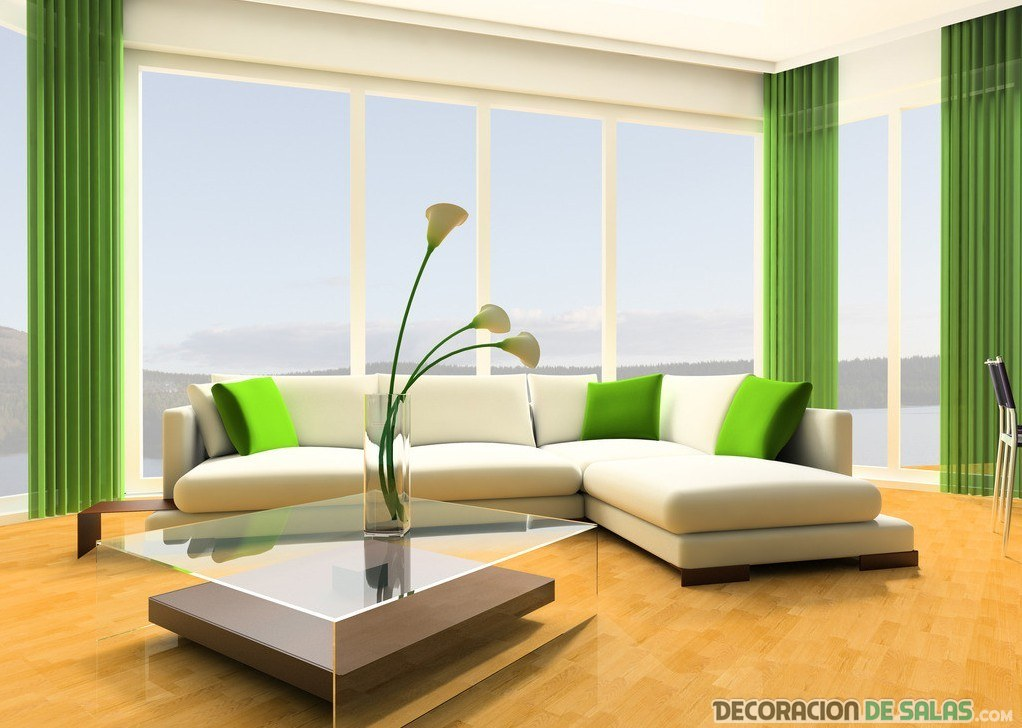 salón verde intenso