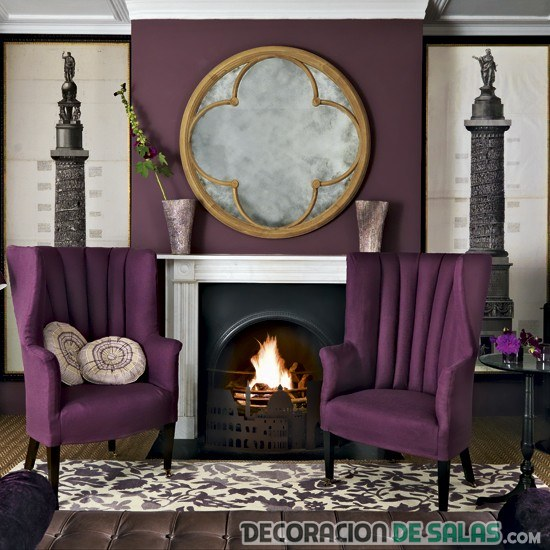 salón vintage morado