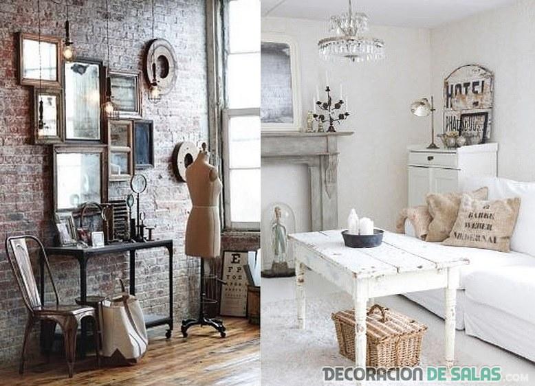 salón y recibidor de estilo rústico