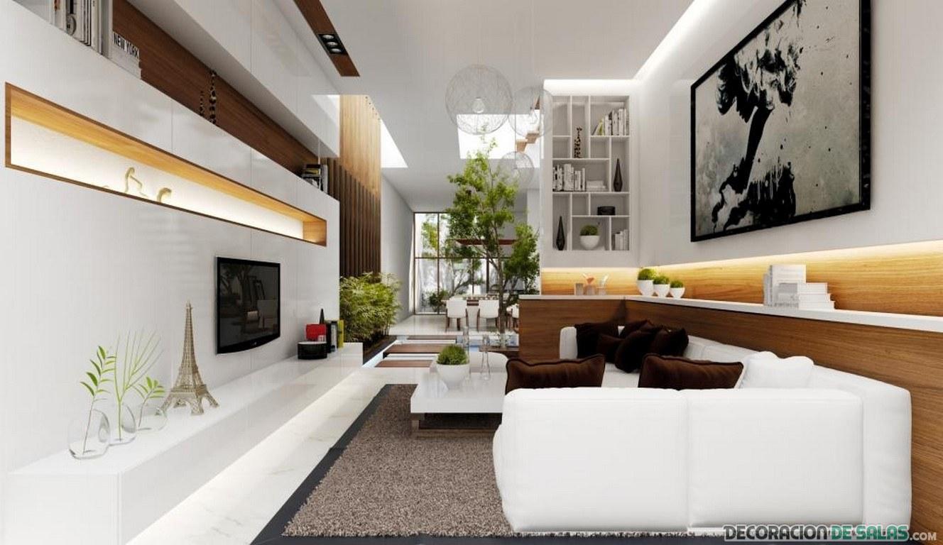 salones amplios en color blanco modernos