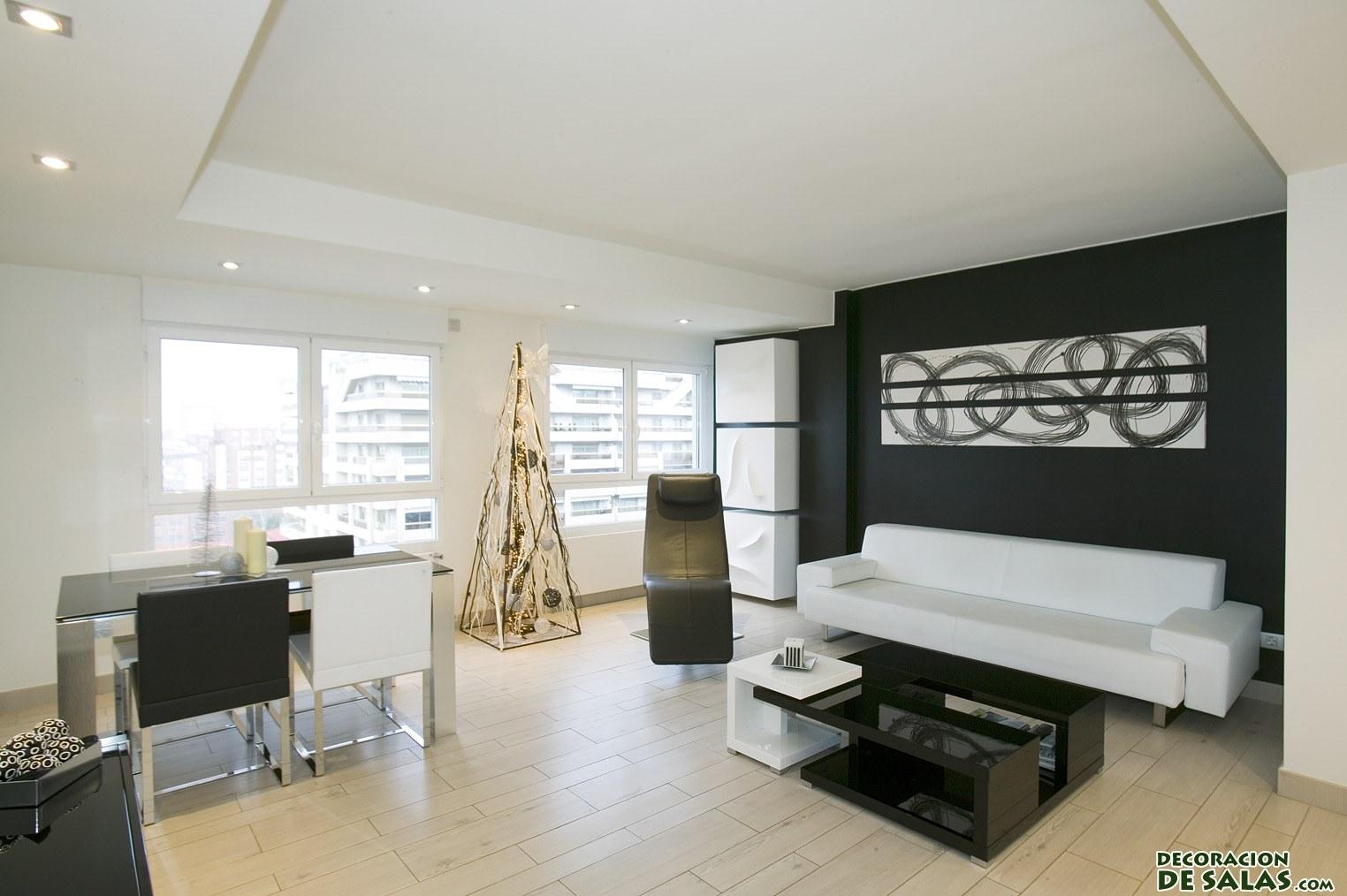 salones bicolor minimalistas