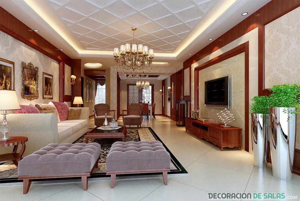 salones combinados con techos