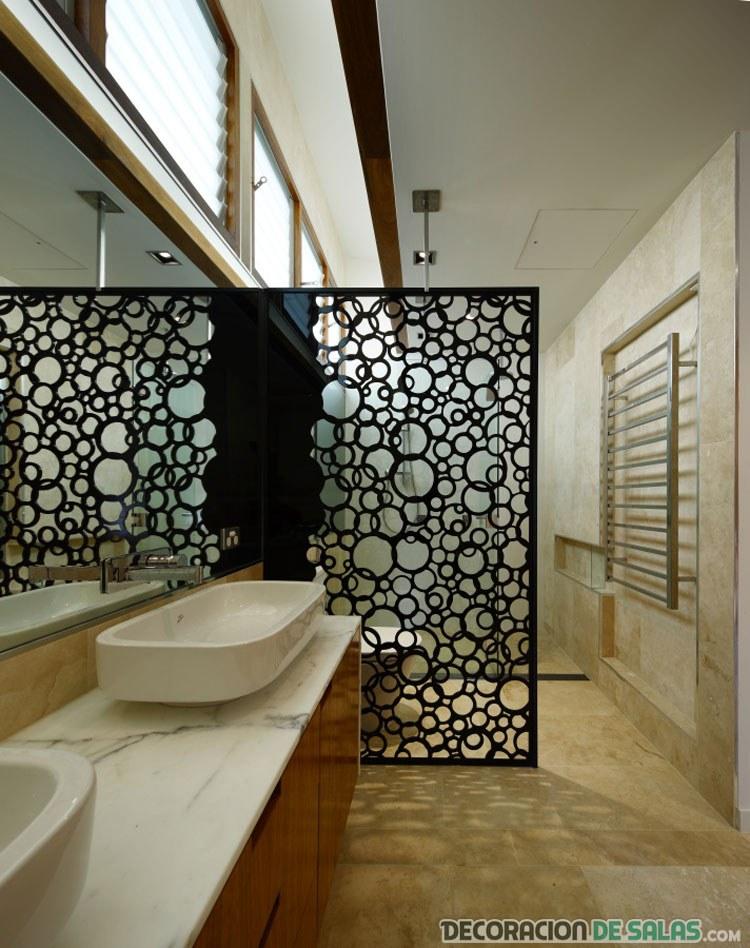 separador de ambiente en el baño
