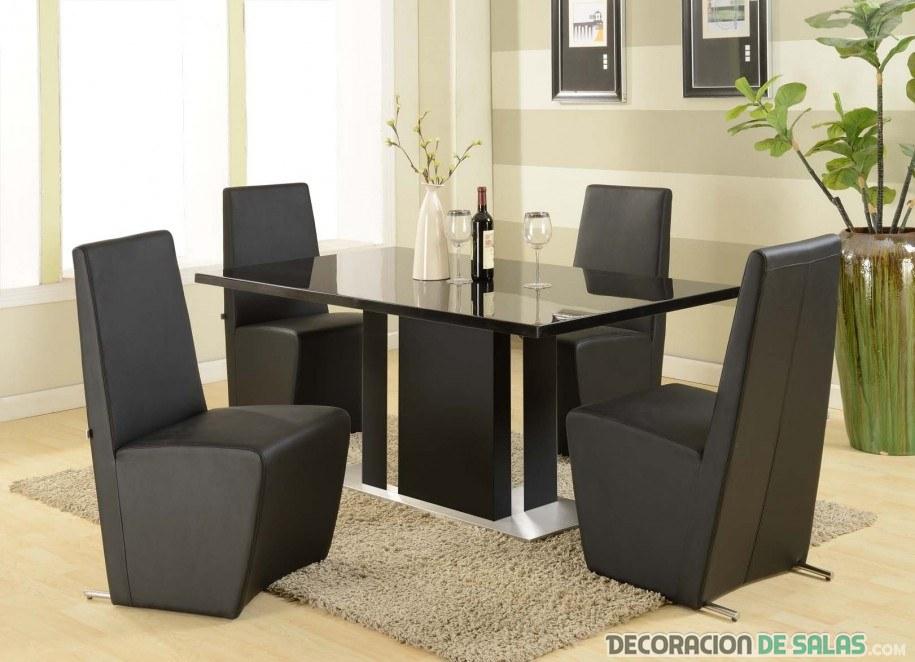 sillas de comedor en color negro