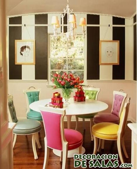 sillas de comedor en colores