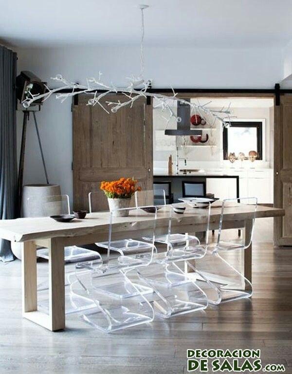 sillas de comedor transparentes