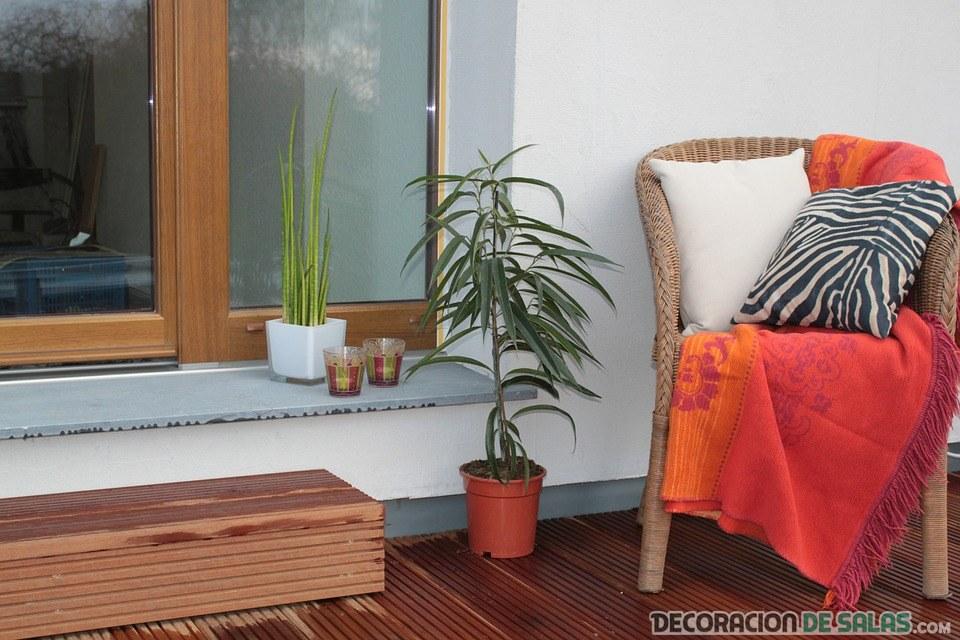 sillón decoración de terraza