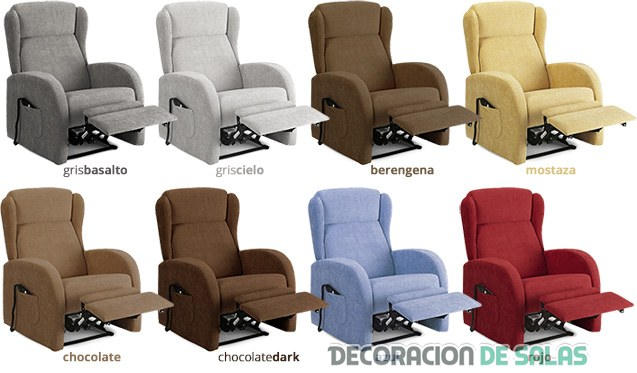 sillon reclinable en colores