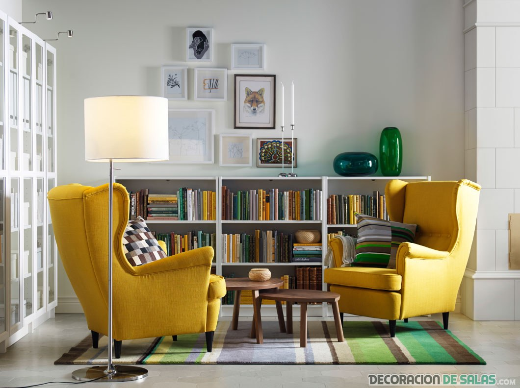 sillones en amarillo para salón de ikea