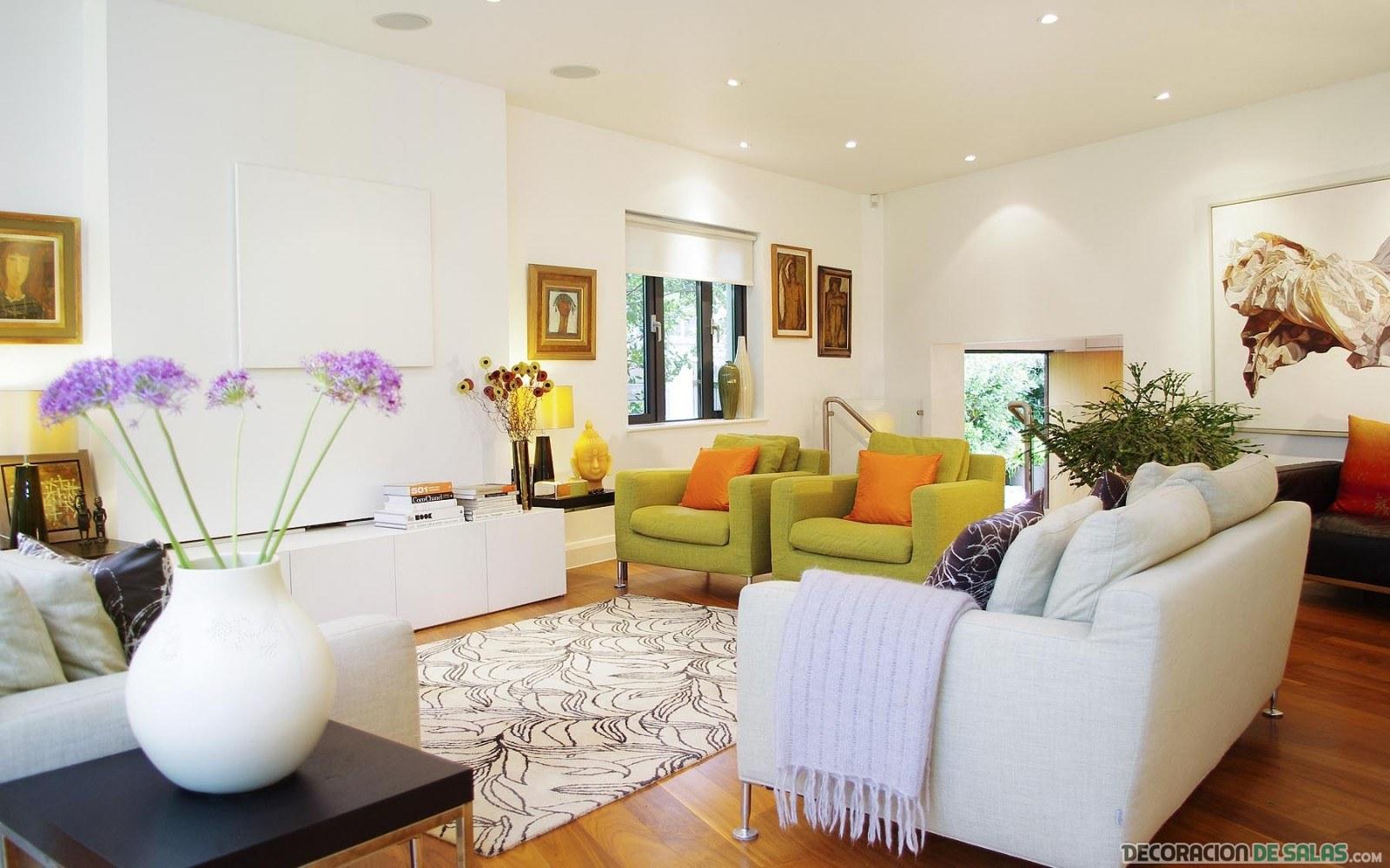 sillones en blanco para salones modernos