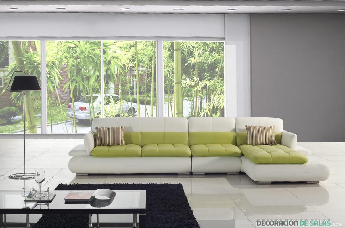 sofá bicolor