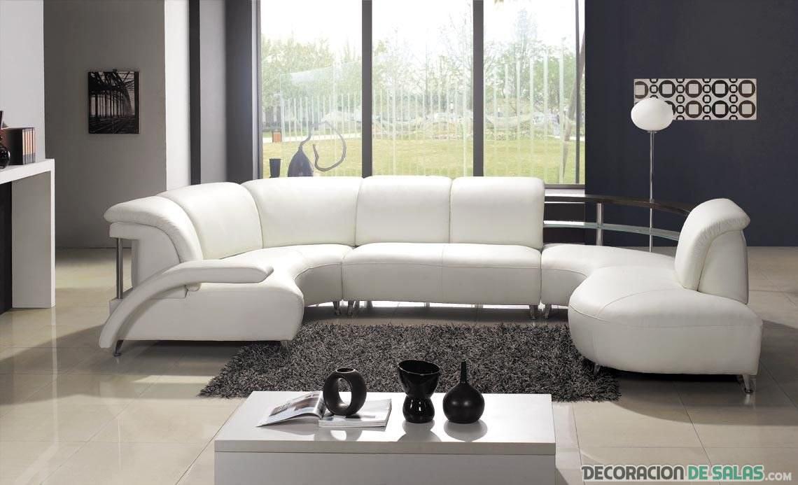 sofá chaise longue redondeado
