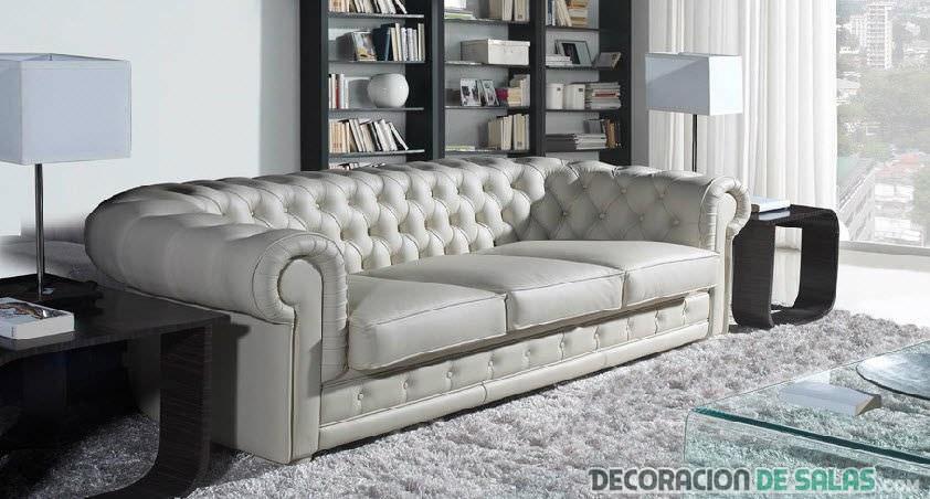 sofa chester blanco para salón