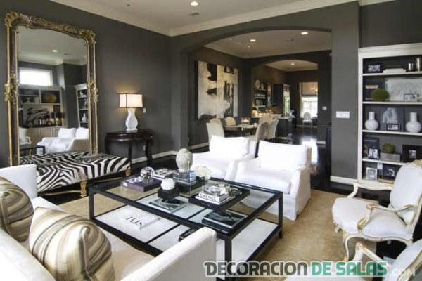 sofá de cebra para decorar salón