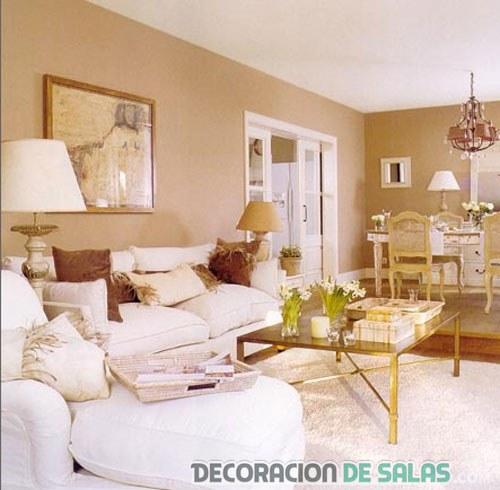 sofá en blanco para salón pequeño
