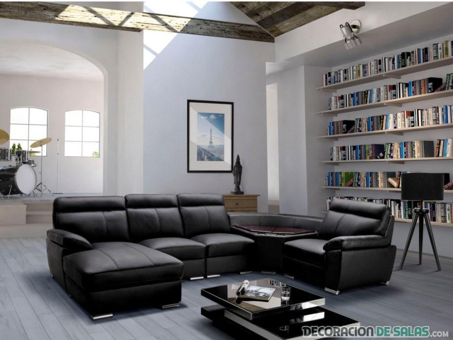 sofá en color negro que no pasa de moda