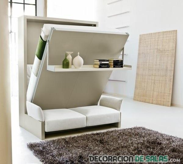 sofá pequeño convertible en cama