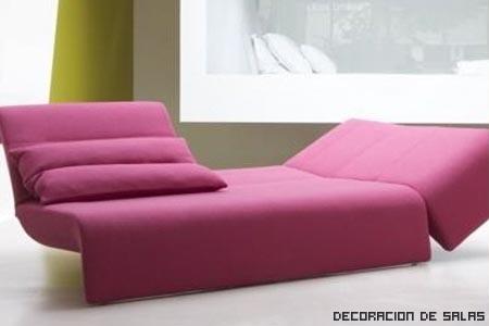 sofa rosa diseño
