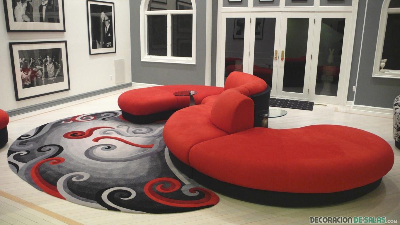 sofá semi-circular