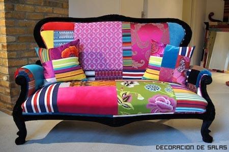 Sillones Coloridos.Telas Para Tapizar Muebles Decoracion De Salas