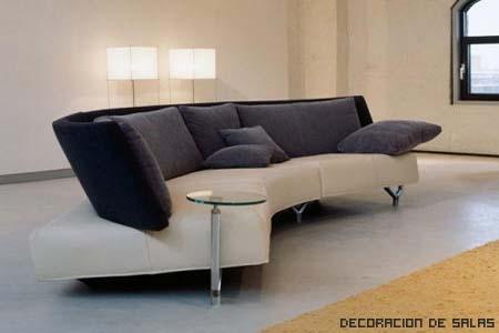 sofa tostado y negro