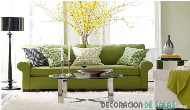 sofa verde decoracion tonalidad