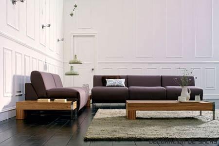sofás con madera