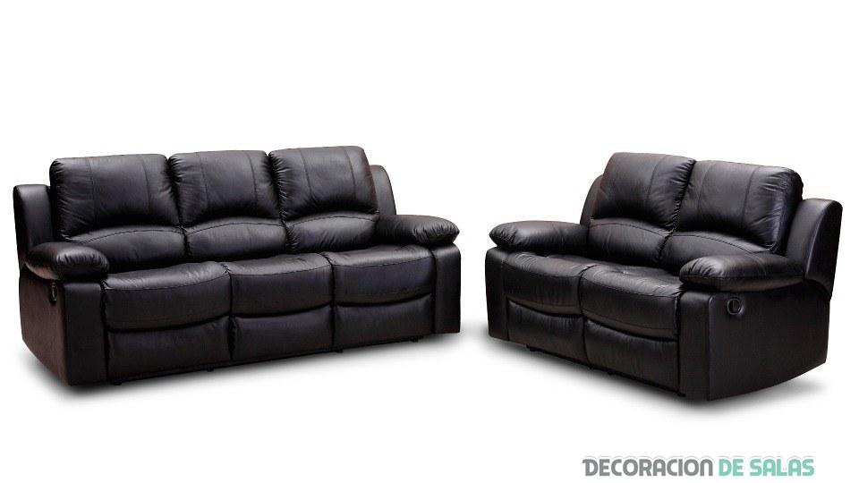 sofás de tres y dos plazas de relax