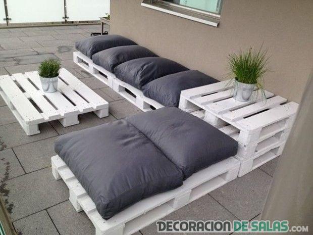 sofás exteriores de palets
