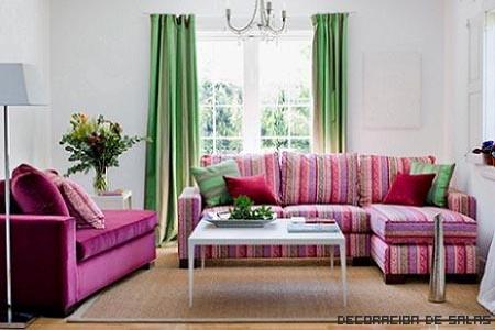 sofas rosas