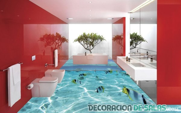 suelo 3d para baño mar