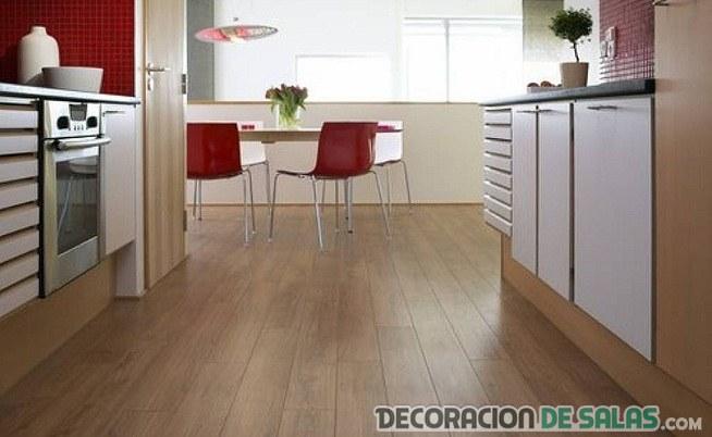 suelo de madera para cocinas